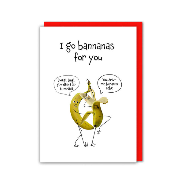 Go Bannanas For Love Card