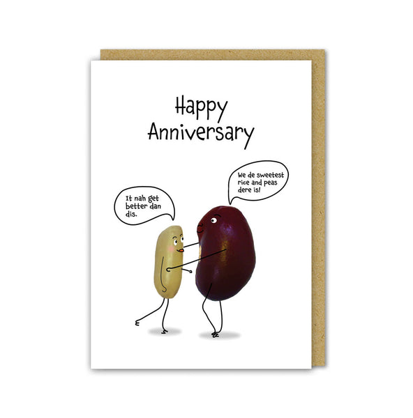 Rice and Peas Love Card