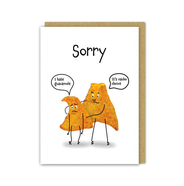 Nacho Sorry Card