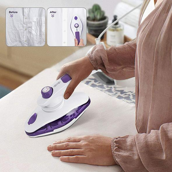 2 in 1 Handheld Garment Vertical Steam Iron(Rotatable head,Adjustable Temperature Button)