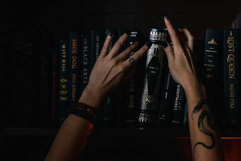 old witchy dark academica library