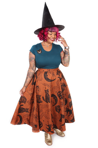 made590 halloween salem nights full length handmade skirt