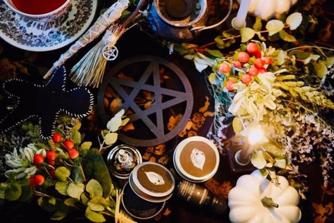 altar display at muses of mystery in melbourne