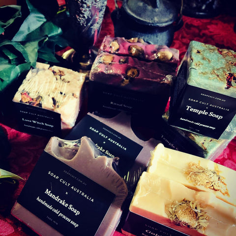 witchy occult soaps at muses of mystery by soap cult australia