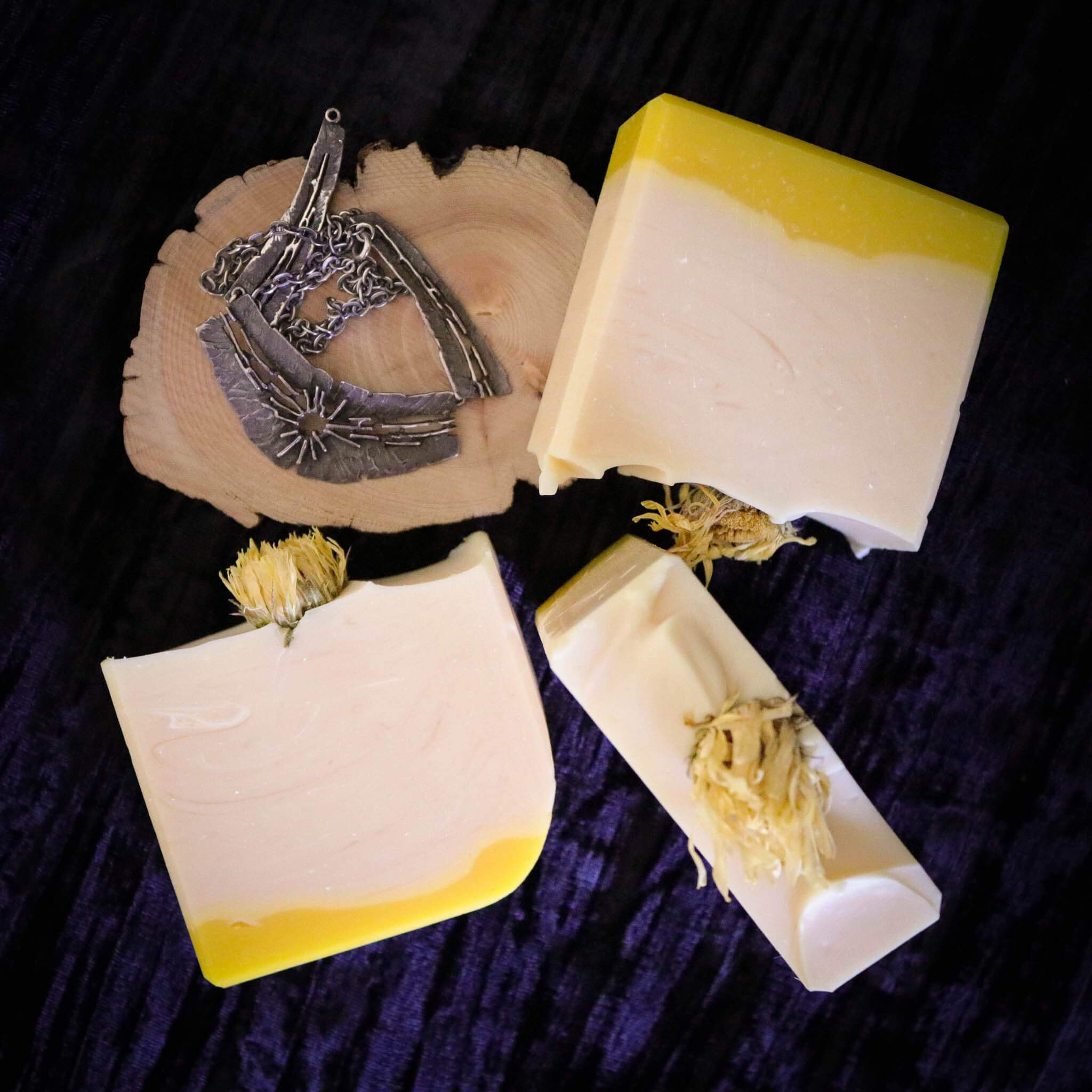 chunks of lemon myrtle handmade soap from australia