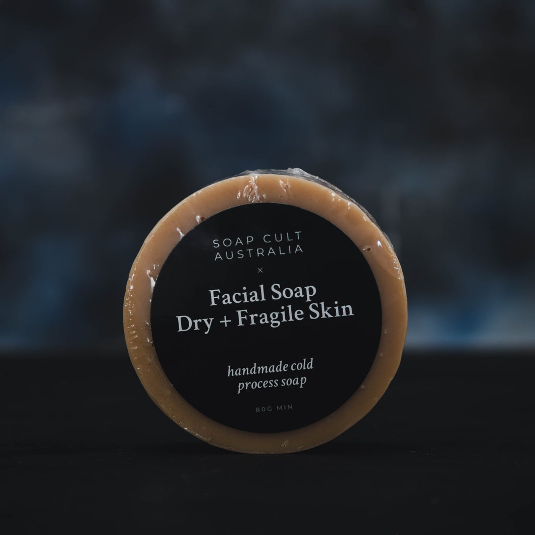 dehydrated aging fragile skin facial soap natural australia