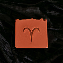 aries soap with ram zodiac symbol stamped on