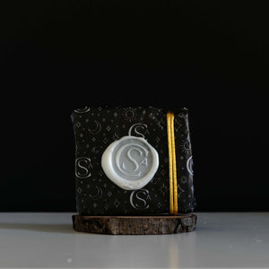 luxury horoscope soap gift wrapped with wax seal