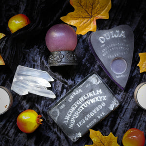 occult witchcraft handmade soap gift set with crystal ball ouija planchette