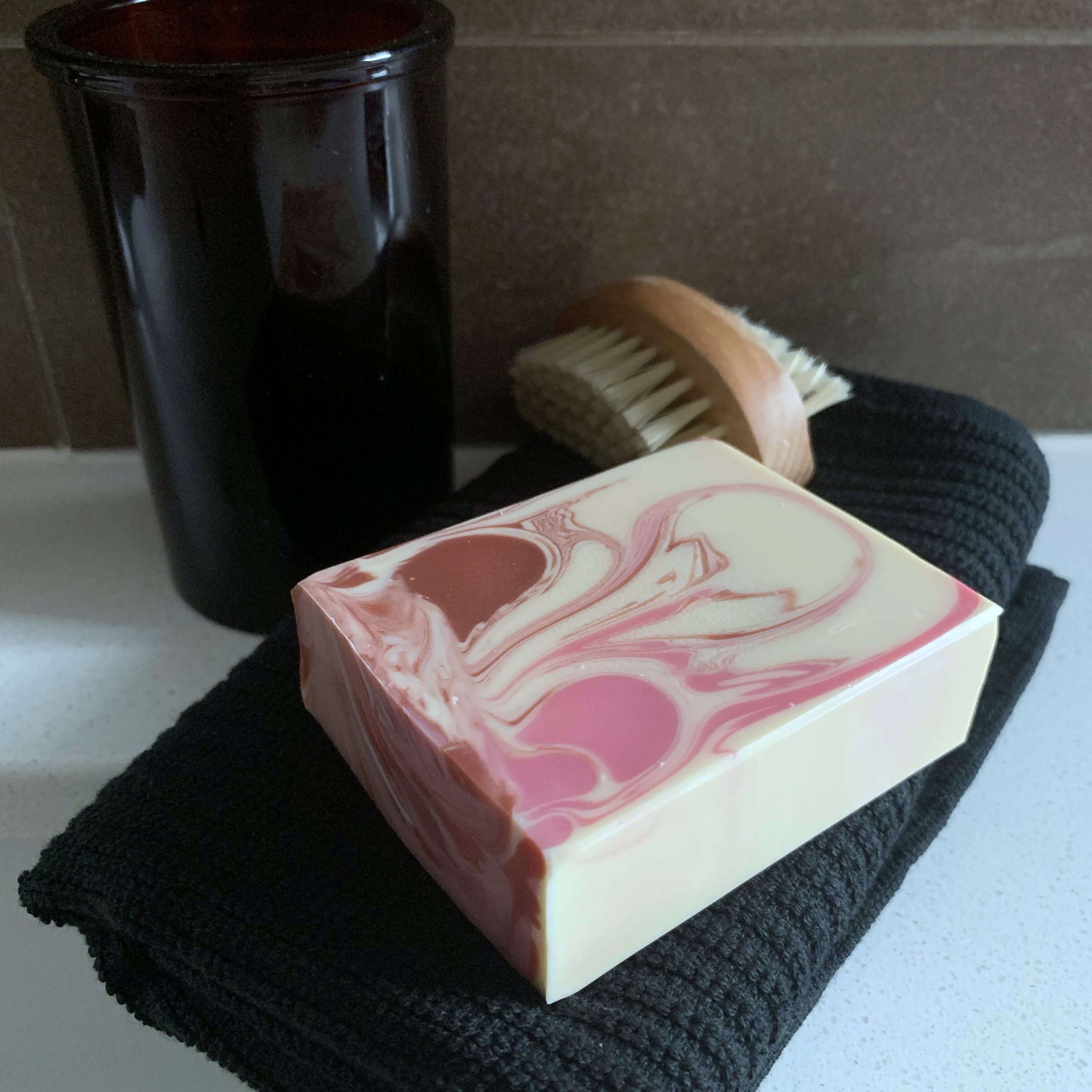 handmade soap for guests airbnb inlaws copper pink australian made vegan