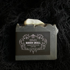 black raven soap for halloween dark mysterious scent