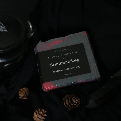 brimstone soap gothic witchy woody vanilla scent