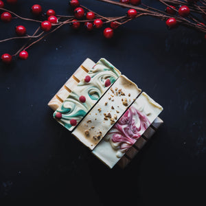 dark moody christmas soap photography by soap cult australia