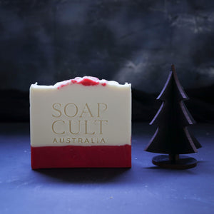 candy cane soap with black christmas tree for gothmas