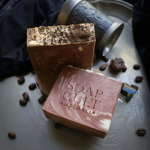 creamy handmade organic coffee soap