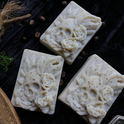 skull rose handmade dish soap unique goth gift
