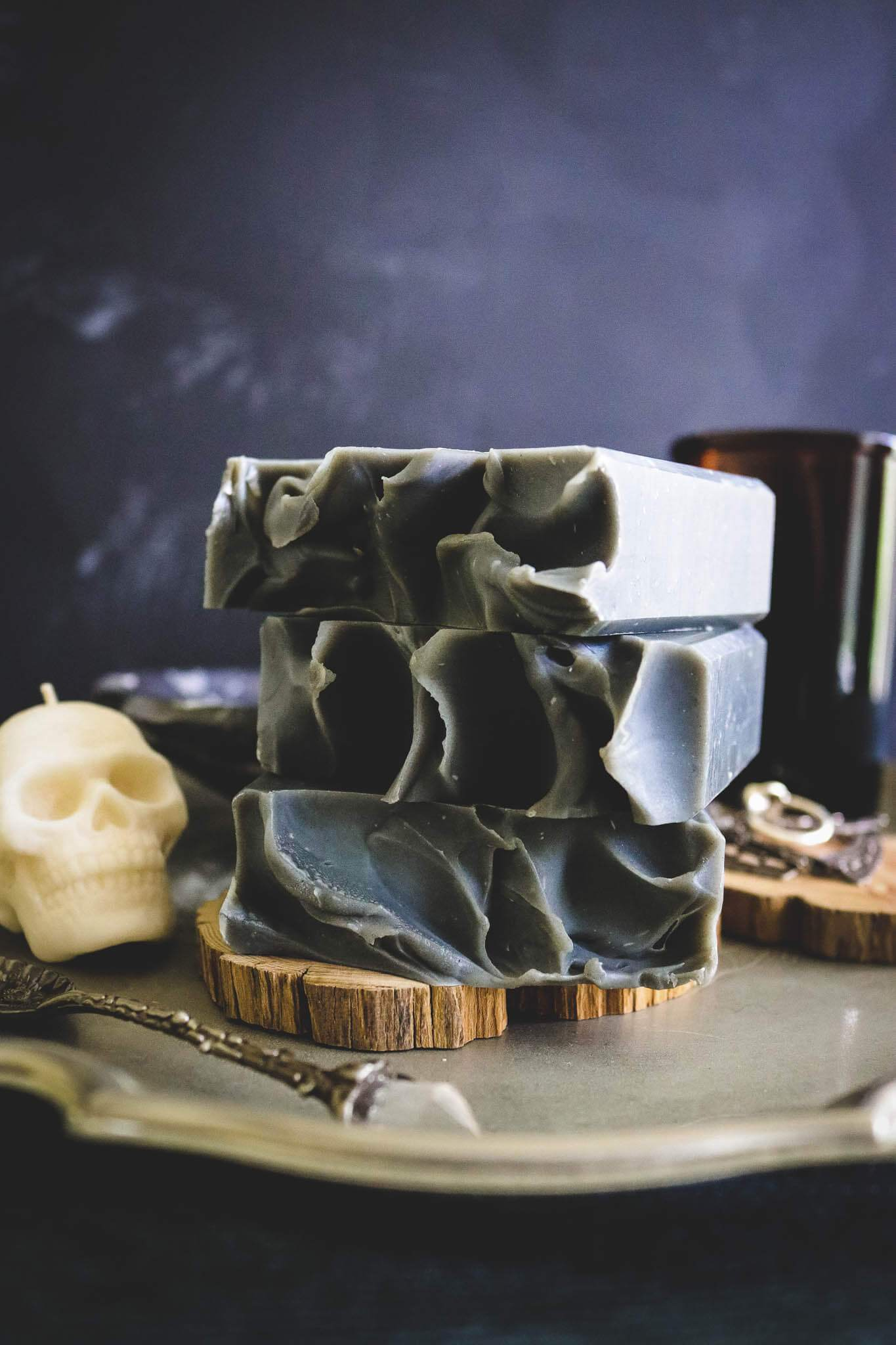 gothic handmade soap black skull witchcraft occult australia