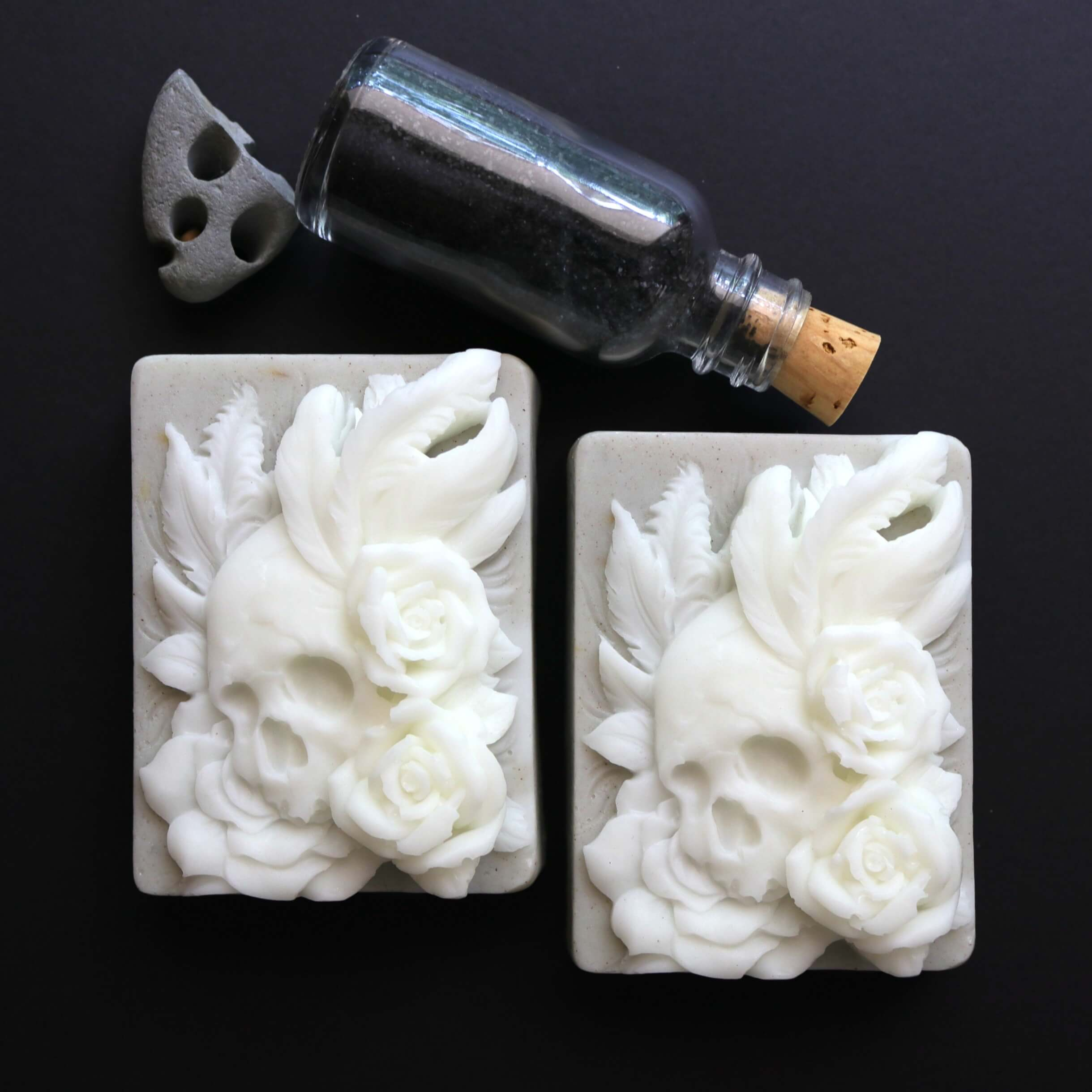 Sailors Grave Viking Skull Soap with Kelp and Green Clay