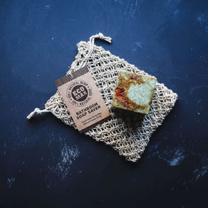 natural hemp bag for saving little bars of soap