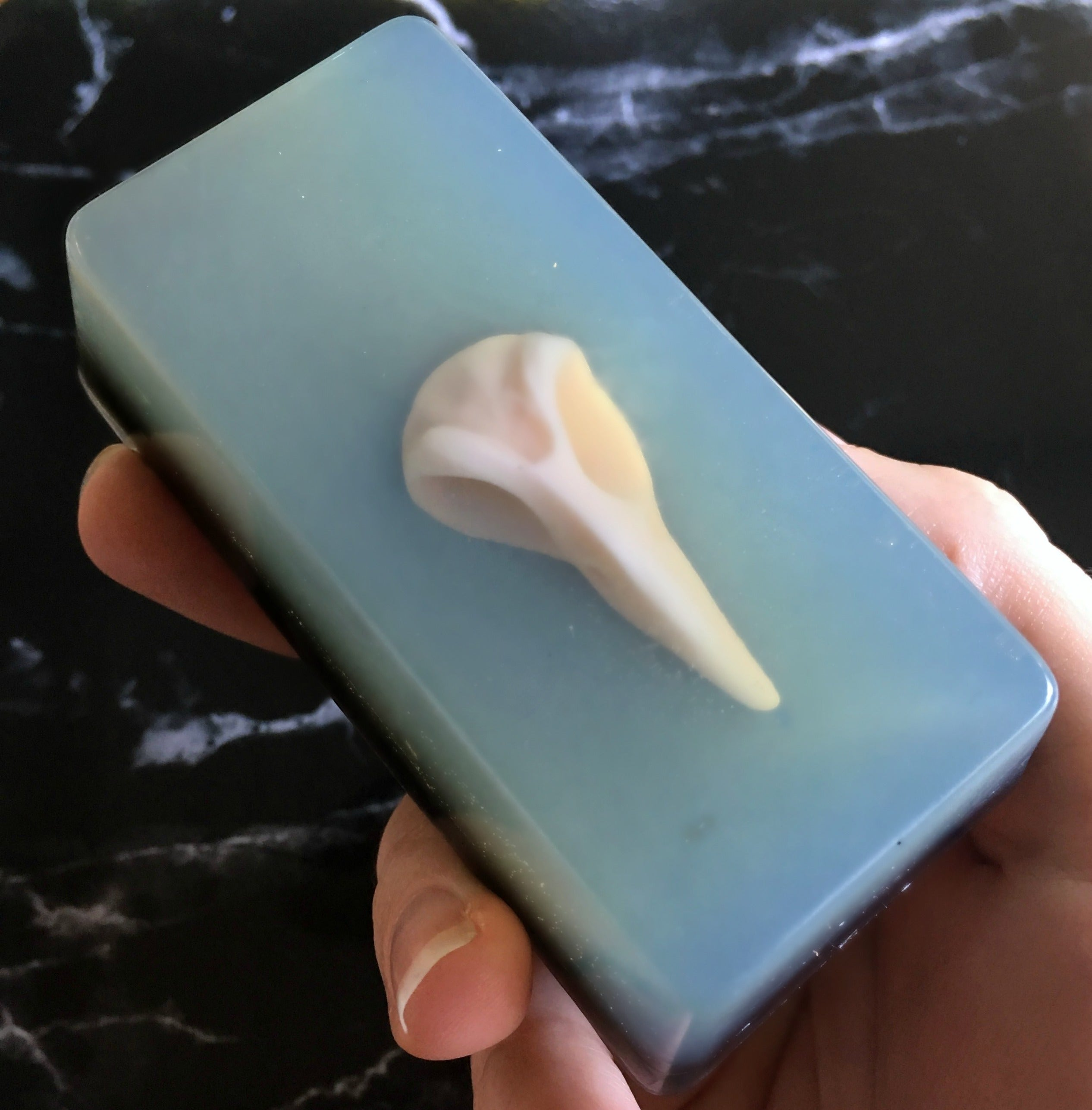 Raven Skull Soap Bar - Sailor Mouth Soaps