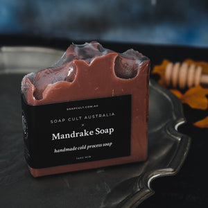 mandrake witchcraft goth soap handmade witchy gifts australia