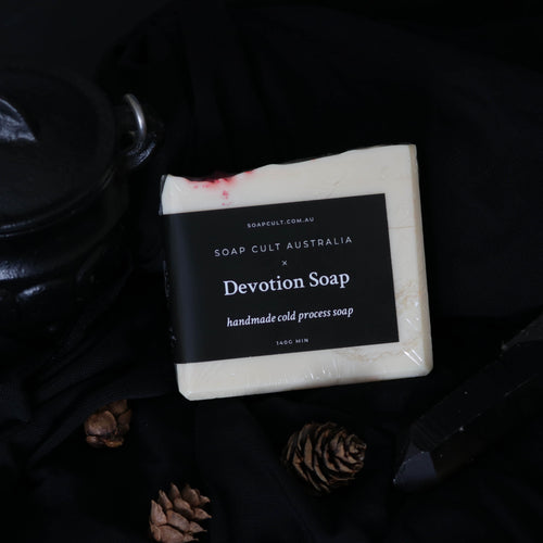 crisp white handmade cold process soap witchy gothic occult gifts