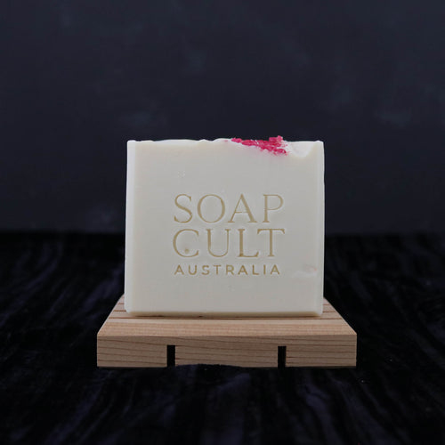crisp white handmade soap pink salt home decor