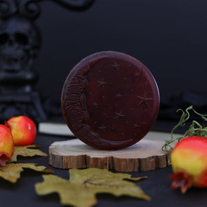 deep red halloween moon soap witchcraft  gothic