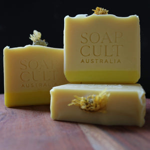 soap cult australia golden dawn lemon myrtle body soap