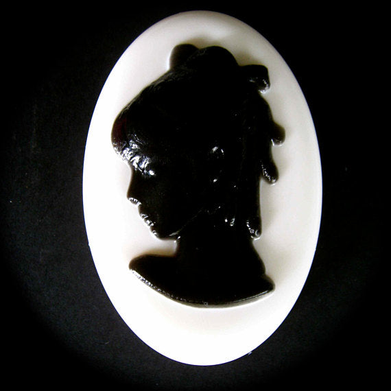 traditional classic cameo style soap in oval shape