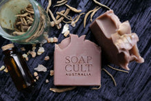 dark mysterious handmade soap earthy gourmand australia
