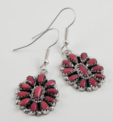 Navajo Red Coral Earrings