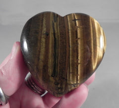 Tiger Eye Heart - 2.25''