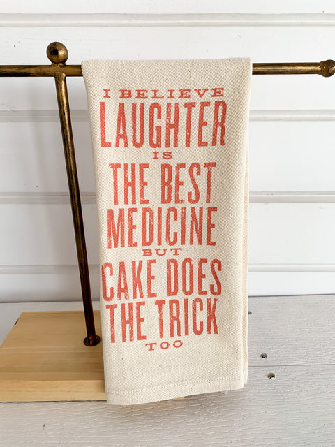 Laughter is the Best Medicine Dish Towel