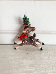 Glitter Reindeer with Tree Ornament (2 Styles)