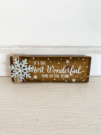 Most Wonderful Time Wooden Ornament