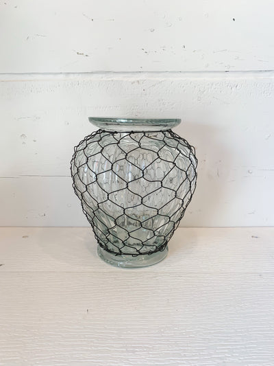 Chicken Wire Wrapped Urn