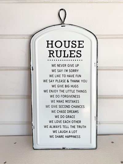House Rules Sign