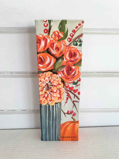Thankful Floral Canvas