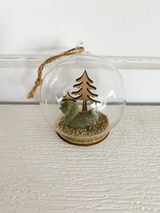 Woodland Animal Dome Ornament
