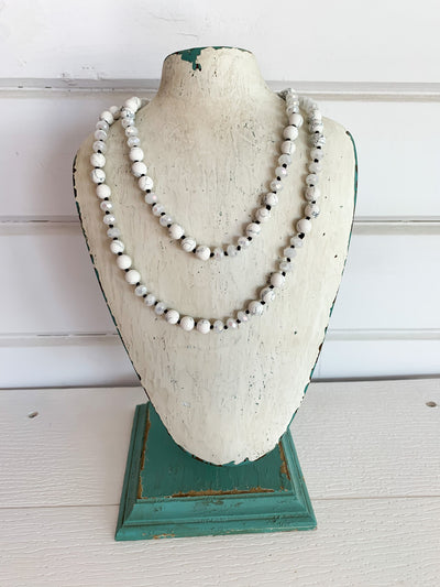 Stone Bead Necklace (Multiple Colors)