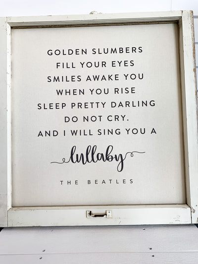 Golden Slumbers Window Canvas