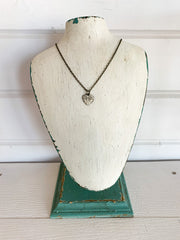 Vintage Heart Charm Necklace (2 Colors)