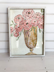 Vase with Roses Framed Print (2 Styles)