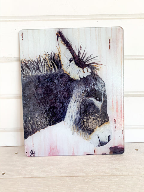 Tempered Glass Cutting Board- Donkey