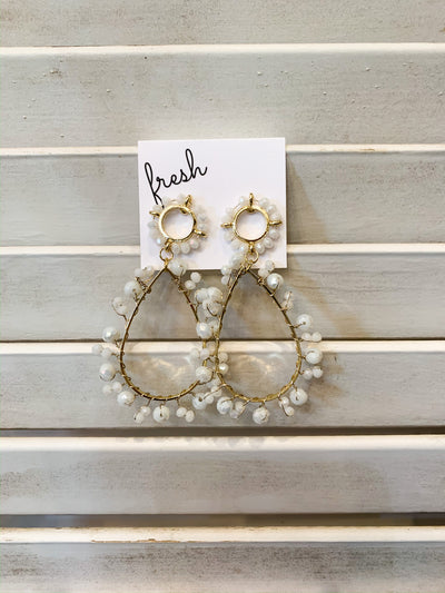 Cornie White Earrings