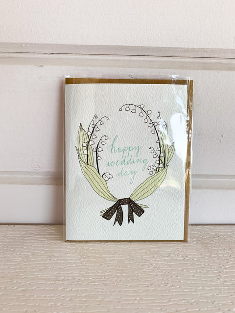 Lily of the Valley Wedding Card