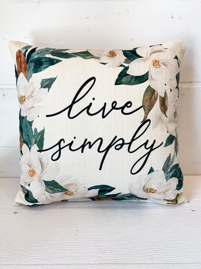 Live Simply Magnolia Pillow