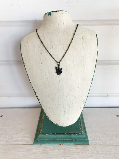 Texas Bluebonnet Charm Necklace
