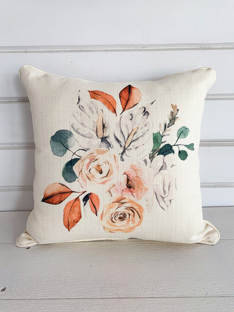 Fall Botanical Cluster Pillow